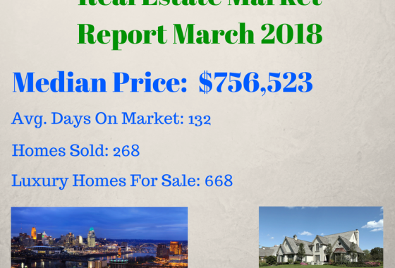Greater Cincinnati Luxury Real Estate Market Report For March 2018